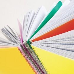 Quaderno spiralato con fori...